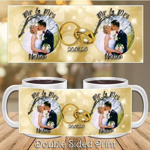 Personalised Wedding Congratulations PHOTO Mug Gift N11